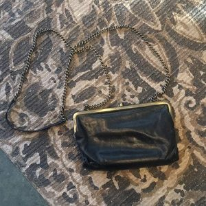 Hobo black clutch with strap